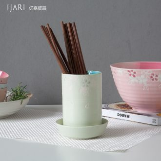 Ijarl million jia creative ceramic chopsticks tube contracted buy object cone chopsticks chopsticks kitchen household waterlogging caused by excessive rainfall