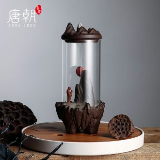 Tang dynasty creative ceramic backflow censer furnishing articles zen teachers tea interior household smoke incense burner