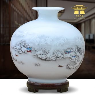 Creative vases, contemporary and contracted home sitting room place jingdezhen ceramics flower arranging prabhutaratna bedroom cabinet handicraft