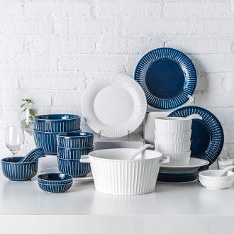 Ijarl million jia Nordic creative contracted household dish dish ceramic tableware suit Hepburn 46 woolly
