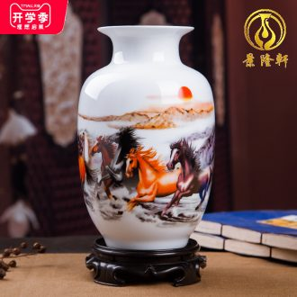 Jingdezhen ceramics vases, contemporary and contracted place flower arranging small porcelain wine handicraft decorative household items