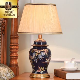 Robbie Macao American desk lamp light warm idea of bedroom the head of a bed European contracted sitting room decorate ceramic lamp