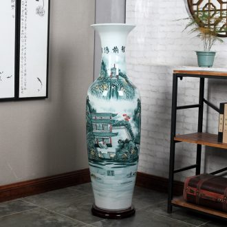 Jingdezhen ceramics of large vases, hand-painted blue and white porcelain hotel opening gifts sitting room adornment is placed