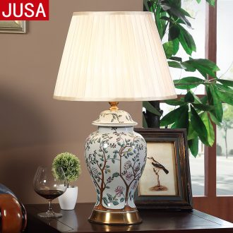 American contemporary and contracted ceramic desk lamp European sweet home sitting room creative dimmer study bedroom lamps and lanterns of the head of a bed
