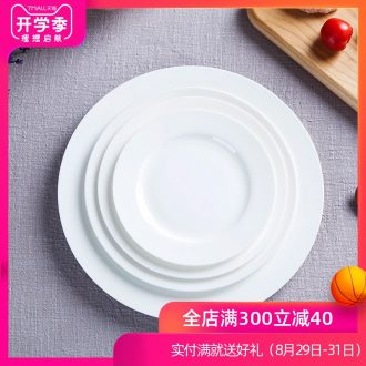 Jingdezhen pure white bone porcelain child creative ceramic flat tray plates western food steak plate tableware