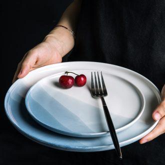 Million fine ceramic tableware ins 0 look the web celebrity beautiful household creative flat plate of beefsteak