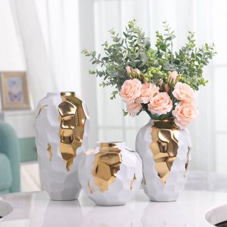 Dried flower vase Nordic light ceramic creative luxury white contracted sitting room of all over the sky star TV ark decoration flower arranging furnishing articles