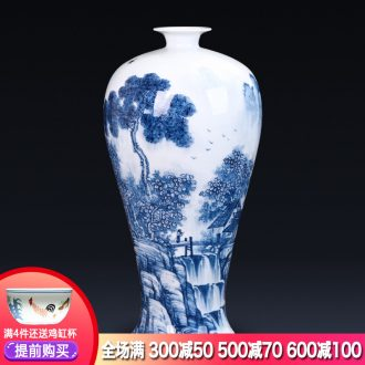 Jingdezhen ceramics hand-painted blue and white porcelain vases, flower arrangement new Chinese style household act the role ofing is tasted furnishing articles gift sitting room