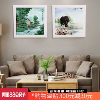 The jingdezhen porcelain plate painting nostalgia figure adornment home sitting room hangs a picture the study office opening gifts