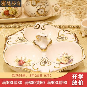 Vatican Sally's Chinese New Year Spring Festival with ceramic candy dishes dry fruit tray European creative points, snack plate melon seed plate is placed