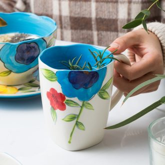 Ijarl million jia hand-painted glass ceramic cups of milk cup han edition couples mark cup breakfast cup, milan