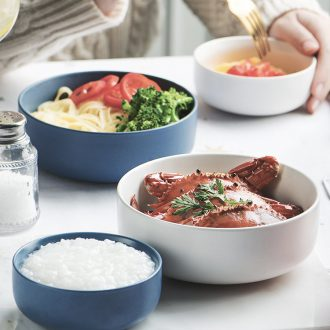 Small bowl ceramic household contracted mini eat bowl son bowl ikea bowl Nordic ins stay single bowl commercial for breakfast