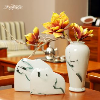 Creative new Chinese style ceramic vase example room TV ark place the sitting room porch table flower arranging, soft adornment