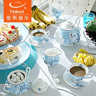 English afternoon tea tea set suit small luxury European top-grade ceramic household bone porcelain coffee cup with a suit to get married