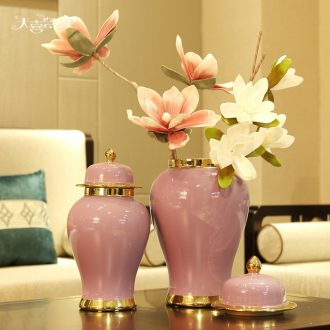General European ceramic jars of furnishing articles American household living room show originality decorative flower arranging, porch decoration
