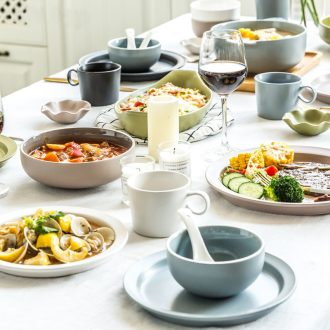 Million jia creative household ceramics tableware contracted rice bowls rainbow noodle bowl dishes dishes suit marca dragon soup bowl dish bowl