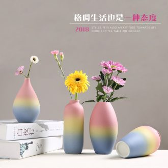 Ceramic floret bottle of contemporary and contracted dried flower arranging flowers flowers furnishing articles creative living room table hydroponic household ornaments