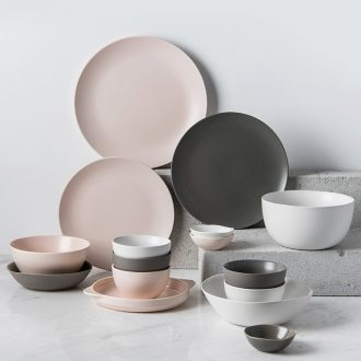 Million fine dishes suit Nordic ins web celebrity dish bowl plate tableware suit household wedding gift box ceramic bowl chopsticks