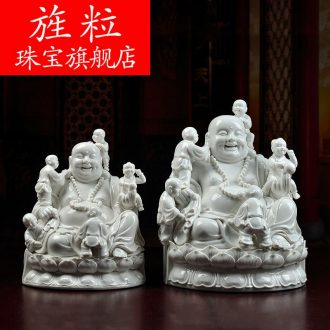 Bm maitreya dehua ceramic crafts household consecrate Buddha furnishing articles abital maitreya D01-0