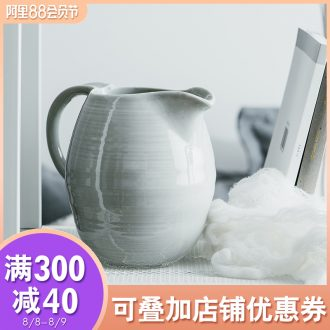 Cold ijarl household high-capacity ceramic kettle European cool creative large ins milk cylinder wake beach kettle