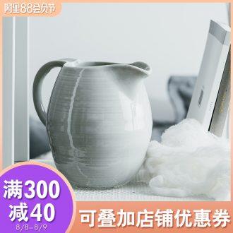 Cold ijarl household high-capacity ceramic kettle European cool creative large ins milk cylinder wake beach kettle