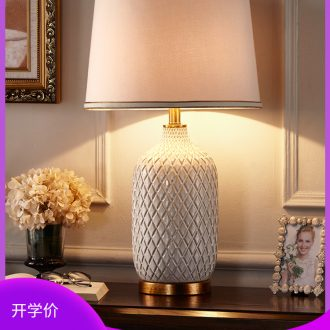 American modern lamp contracted and contemporary bedroom berth lamp European creative ceramic sitting room study warm light the lamp that shield an eye