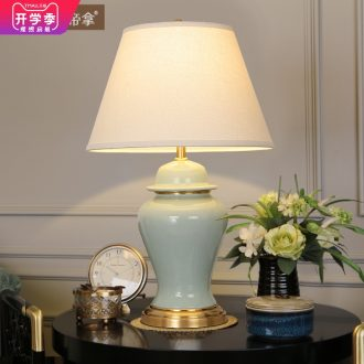 Emperor take American ceramic whole copper sets sitting room atmosphere decoration lamp country retro sweet bedroom berth lamp