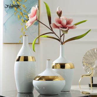 Modern new Chinese style ceramic vase furnishing articles dried flower arranging flowers contracted sitting room TV ark Nordic soft outfit, household act the role ofing is tasted