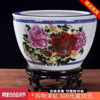 Jingdezhen ceramics from pastel brocade carp daikin aquarium water lily cylinder scroll the tortoise cylinder home furnishing articles