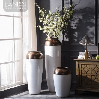 Extra large size of large vases, ceramic contemporary and contracted white flower arranging home decoration villa hotel open furnishing articles
