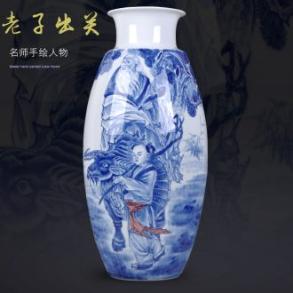 Hand-painted porcelain of jingdezhen ceramics characters of new Chinese style living room porch vase furnishing articles home decoration gifts