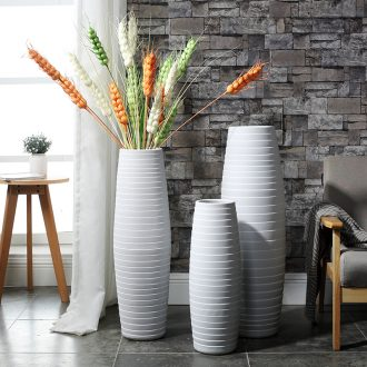 Nordic light much dry flower arranging ceramics of large vases, contemporary and contracted sitting room porch hotel lobby decoration