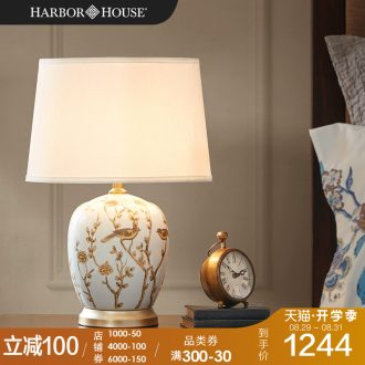 Harbor House sitting room ceramic desk lamp bedroom berth lamp American contracted study Via adornment lamps and lanterns