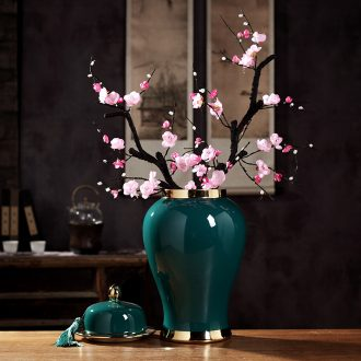 General furnishing articles of jingdezhen ceramic vase large jar of modern Chinese style living room home decoration handicraft template