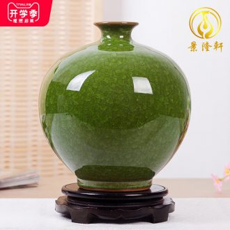 Archaize of jingdezhen ceramics kiln borneol crackle vases, modern household act the role ofing is tasted handicraft furnishing articles in the living room