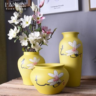 New Chinese vase living room TV table wine porch flower arranging place to live in jingdezhen ceramic installed