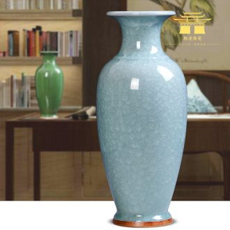 Jingdezhen ceramics archaize crack jun porcelain glaze borneol flower vase household XuanGuang sitting room adornment is placed