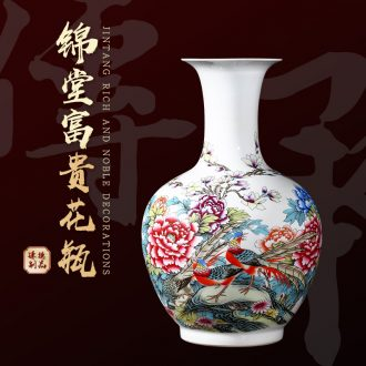 Jingdezhen ceramics vase furnishing articles modern decoration craft flower arranging new Chinese style household the sitting room porch