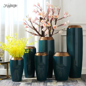Number of large European ceramics vase high contracted pot sitting room dry flower flower POTS villa decorations furnishing articles