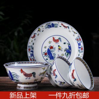 Dishes suit household contracted bone porcelain Chinese chopsticks combination of jingdezhen Chinese bowl tableware outfit dishes