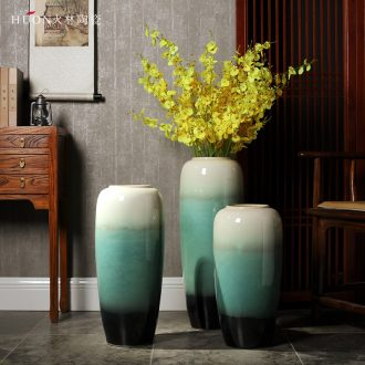 Jingdezhen ceramic vase landing European contemporary and contracted sitting room TV ark creative dry flower arranging flowers large furnishing articles