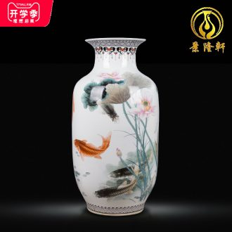 Jingdezhen ceramics hand-painted vases large successive new Chinese flower arranging furnishing articles sitting room more household act the role ofing is tasted