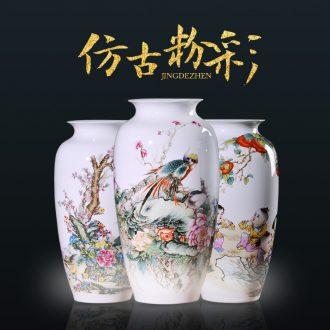 Jingdezhen ceramics vases, flower arrangement sitting room place famille rose porcelain insulator thin foetus modern home decoration decoration