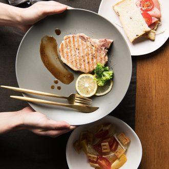 Household utensils Nordic ins ceramic plate suit salad dish dish dish beefsteak dish of flat plate