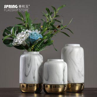 Nordic ceramic vase marble vase furnishing articles furnishing articles at home sitting room flower arranging dried flower decorations