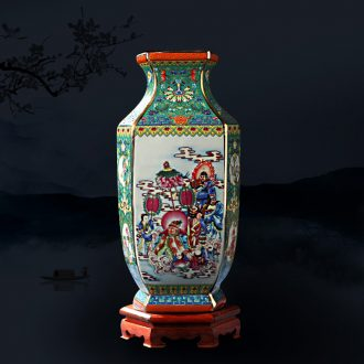 Jingdezhen ceramic vase furnishing articles Chinese flower arranging office wine rich ancient frame TV ark c7XfQ9Wc sitting room