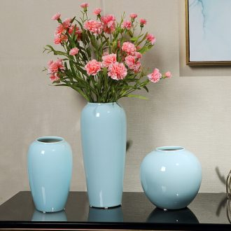 Jingdezhen ceramic vase furnishing articles new Chinese style flower implement simulation flower flower contemporary and contracted decorate the sitting room is small and pure and fresh