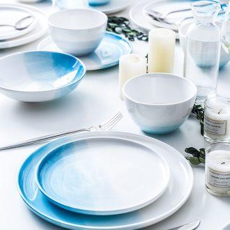 Ins ceramic tableware creative steak dinner plate plate plate nice dessert plate web celebrity breakfast tray