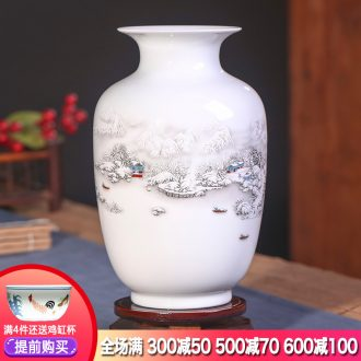Jingdezhen ceramics floret bottle furnishing articles dried flower arranging flowers sitting room ark Chinese style home decoration arts and crafts