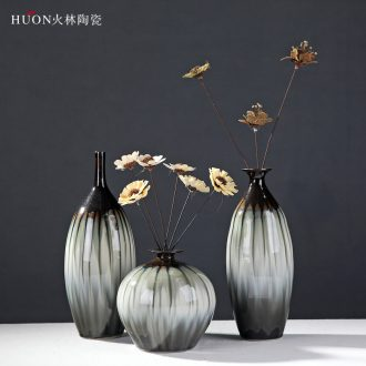 Creative Europe type restoring ancient ways of Chinese style household soft adornment sitting room furnishing articles of handicraft pottery and porcelain vases, pottery flower arrangement